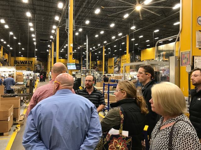 Safety Committee Members Tour DeWalt