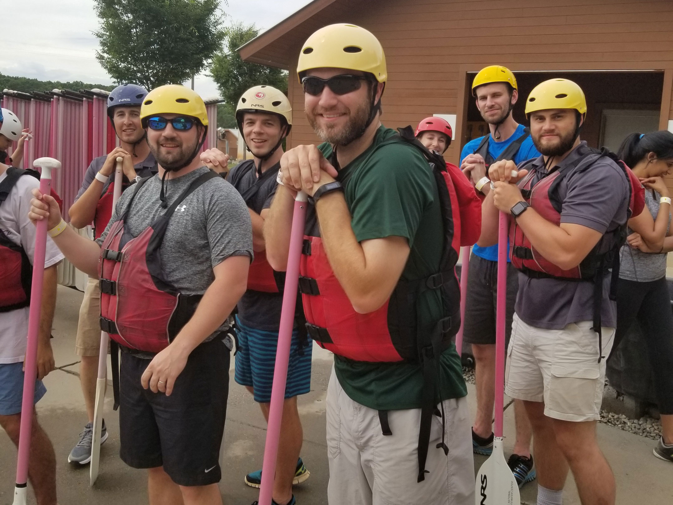 Young Leaders at White Water Rafting Leadership Event